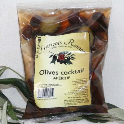 Sachet d'olives cocktail pour apéritif