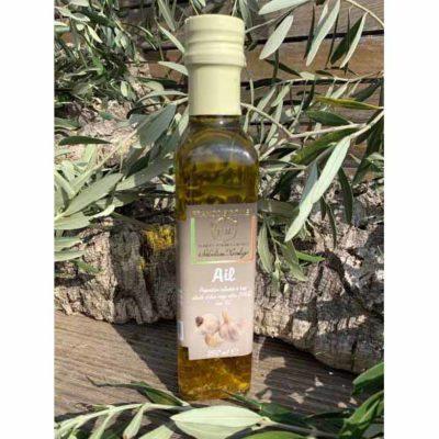 Huile d'olive aromatisée à l'ail
