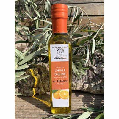 Huile d'olive aromatisée à l'orange