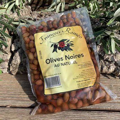 Olives noires au naturel en sachet -1 KG